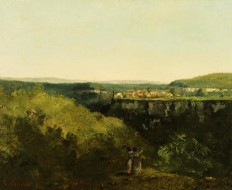 Gustave Courbet - A View Across the River, about 1885