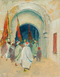 Caleb Arnold Slade - A Gateway in Tunis, about 1921