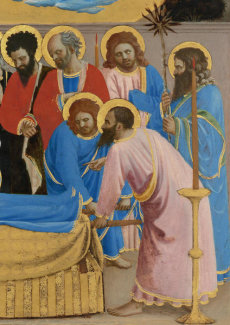 Fra Angelico - The Death and Assumption of the Virgin (detail: Christ's disciples), 1430-1434