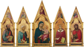 Simone Martini - Virgin and Child with Saints, about 1320