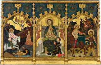 Francesc Comes the Younger - Virgin and Child with Saints George and Martin, about 1395