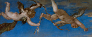 Titian - Rape of Europa (detail: cupids), 1562