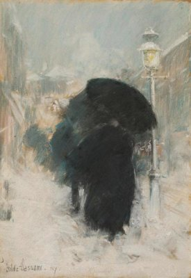 Childe Hassam - A New York Blizzard, about 1890