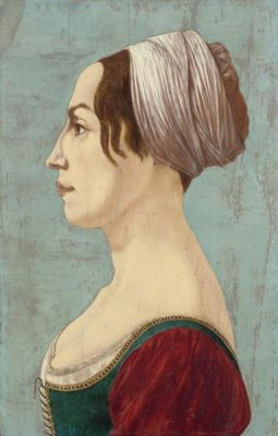 Piero del Pollaiolo - A Woman in Green and Crimson, about 1490-1499