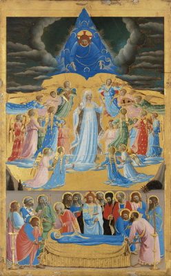 Fra Angelico - The Dormition and Assumption of the Virgin, 1430-1434