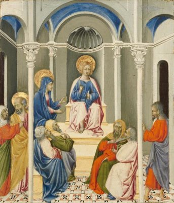 Giovanni di Paolo - Christ Disputing in the Temple, about 1450-1459