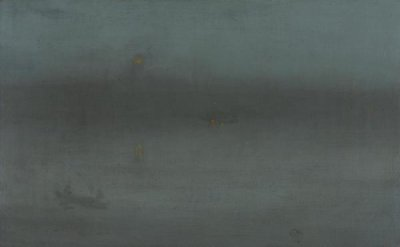 James McNeill Whistler - Nocturne, Blue and Silver: Battersea Reach, about 1872-1878