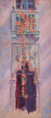 Arthur Pope - Nasturtiums at Fenway Court, 1919