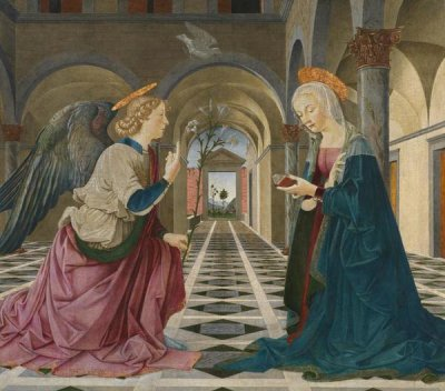 Piermatteo d'Amelia - The Annunciation, about 1475