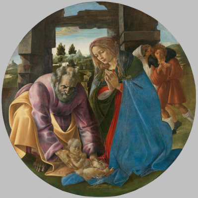 Follower of Sandro Botticelli - The Nativity, about 1482-1485