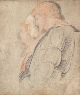 Peter Paul Rubens - Three Men in Profile from Mantegna's The Triumph of Caesar, 1600-1608
