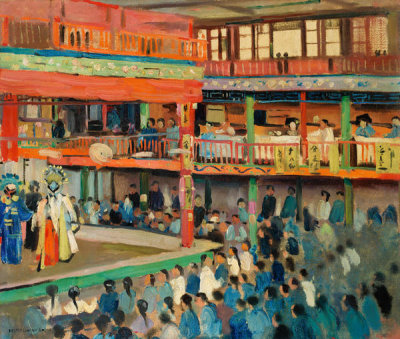 Joseph Lindon Smith - A Theater in Mukden, Manchuria, about 1905