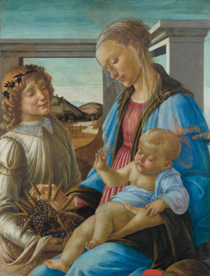 Sandro Botticelli - Virgin and Child with an Angel, 1470-1474