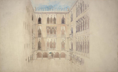 Willard Thomas Sears - Design for the Courtyard of Fenway Court, 1900