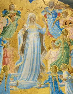 Fra Angelico - The Dormition and Assumption of the Virgin (detail: the Virgin), 1424-1434