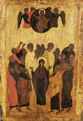 Unknown Russian artist - The Assumption of the Virgin, 15th century