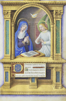 Jean Bourdichon - Book of Hours: The Annunciation, 1490-1515