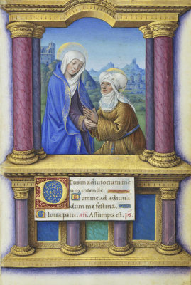 Jean Bourdichon - Book of Hours: The Visitation, 1490-1515