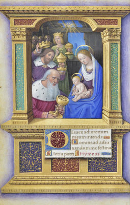 Jean Bourdichon - Book of Hours: Adoration of the Magi, 1490-1515
