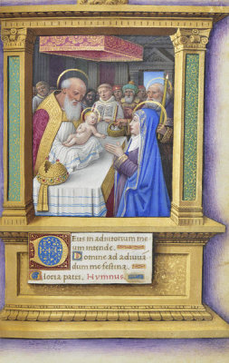 Jean Bourdichon - Book of Hours: The Presentation in the Temple, 1490-1515