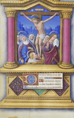 Jean Bourdichon - Book of Hours: The Crucifixion, 1490-1515