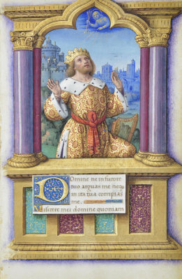 Jean Bourdichon - Book of Hours: King David, 1490-1515