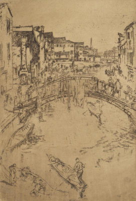 James McNeill Whistler - Second Venice Set: The Bridge, Santa Marta, 1879-1880