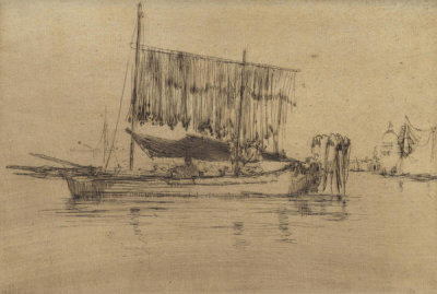 James McNeill Whistler - Second Venice Set: Fishing Boat, 1879-1880