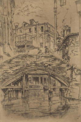 James McNeill Whistler - Second Venice Set: Ponte del Piovan, 1879-1880
