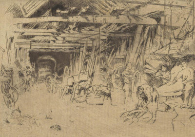 James McNeill Whistler - Second Venice Set: Wheelwright, 1881
