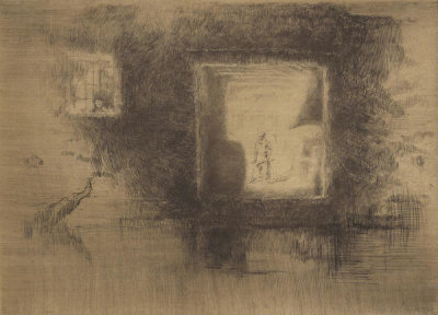 James McNeill Whistler - Second Venice Set: Nocturne: Furnace, 1879-1880