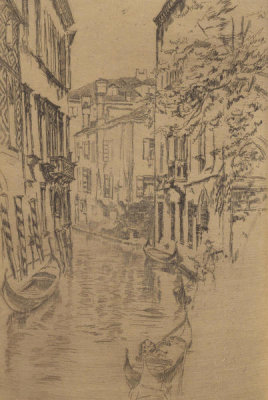 James McNeill Whistler - Second Venice Set: Quiet Canal, 1879-1880