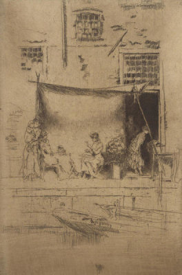 James McNeill Whistler - Second Venice Set: Fruit Stall, 1879-1880