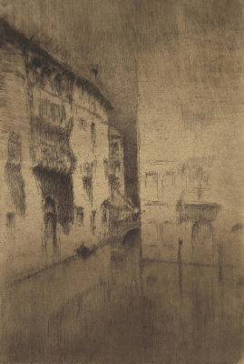 James McNeill Whistler - Second Venice Set: Nocturne: Palaces, 1879-1880