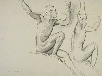 John Singer Sargent - Study of Two Male Nudes, 1917-1921