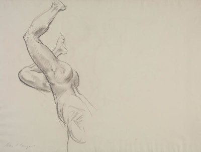 John Singer Sargent - Study for the Rotunda of the Museum of Fine Arts, Boston: Eros and Psyche, 1917-1921