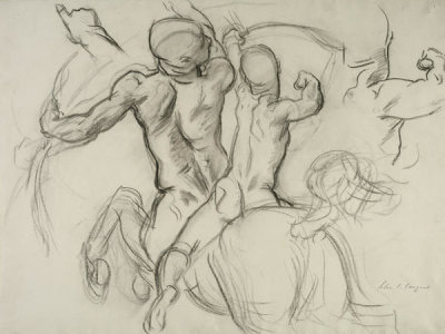 John Singer Sargent - Study for the Rotunda or Grand Staircase of the Museum of Fine Arts, Boston: Chiron and Achilles, 1917-1922