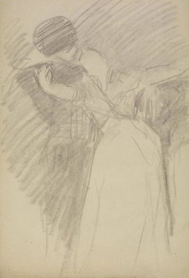 John Singer Sargent - Study for The Spanish Dance: Two Dancers, 1879-1880