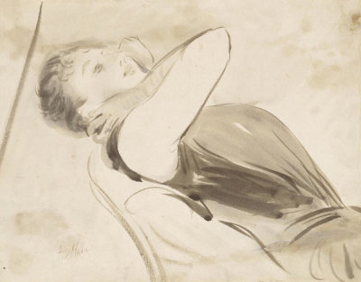 Paul César Helleu - Study of a Woman on a Sofa, about 1890