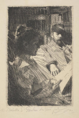 Anders Zorn - Reading, 1893