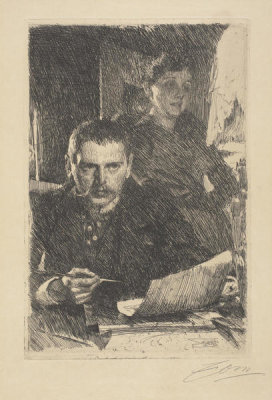 Anders Zorn - Zorn and His Wife, 1890
