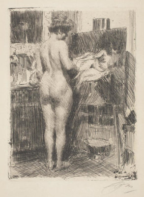 Anders Zorn - Model before Picture, 1910