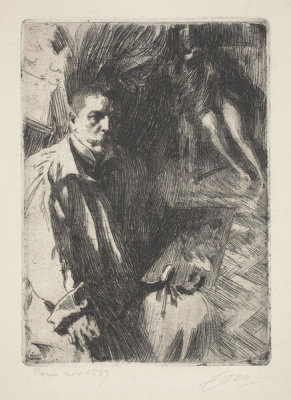 Anders Zorn - Self-Portrait with Model II, 1899