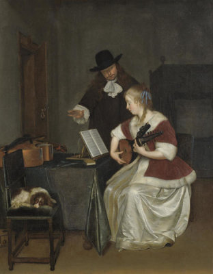 Workshop of Gerard ter Borch the Younger - The Music Lesson, about 1668