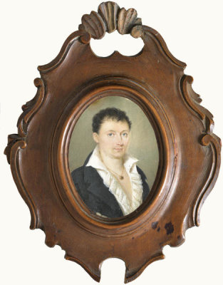 Unknown English artist - Miniature of Lord Byron, 19th century