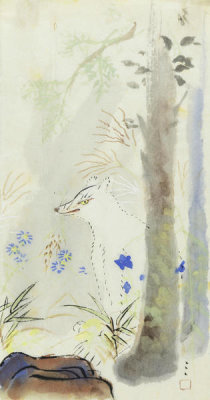 Shimomura Kanzan - White Fox, about 1913