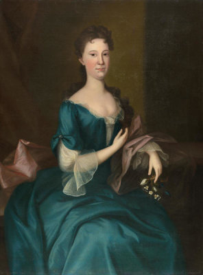 Joseph Blackburn - A Lady of the Russell Family, 1754-1764