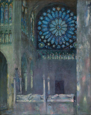 Paul César Helleu - The Interior of the Abbey Church of Saint Denis, about 1891
