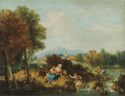 Giuseppe Zais - By the Stream, 1730-1781