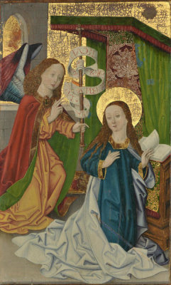 Unknown German artist - The Annunciation, 1450-1550